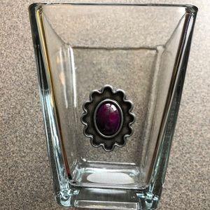 Vase with purple metal detail